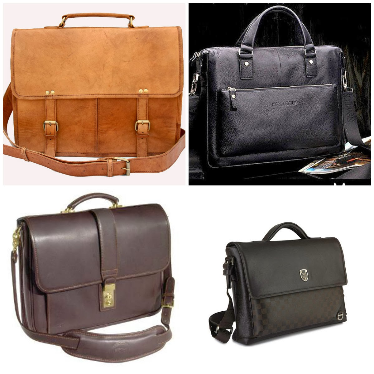 Shoes & Belts: Leather Bags