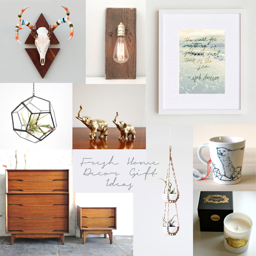 etsy round up fresh home decor gift ideas - Home Decor Gifts