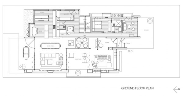 Ground floor plan of the house