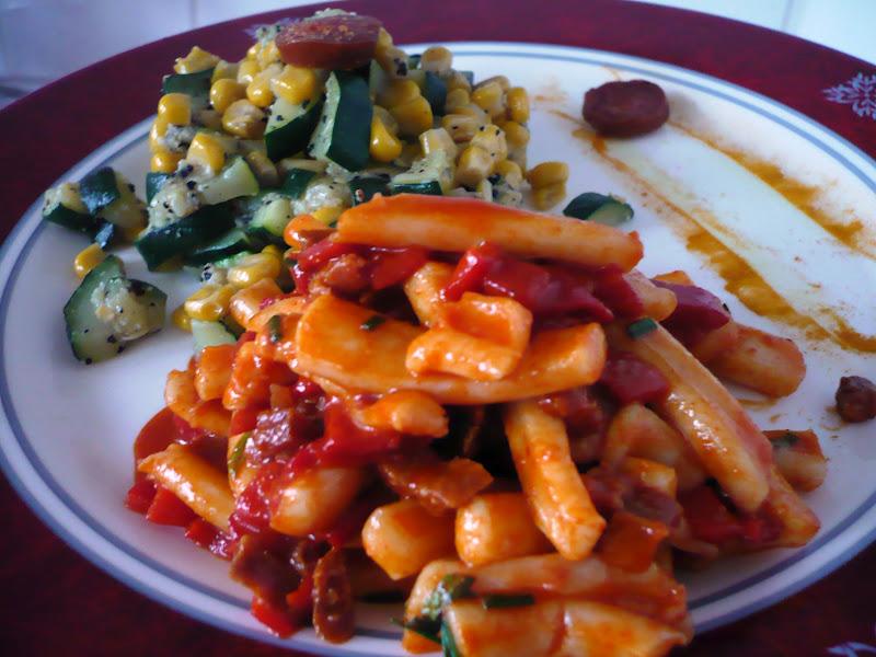 Celle qui cuisinait ou le plaisir de cuisiner salade de calamars au chorizo culino versions juin - Comment cuisiner les calamars ...
