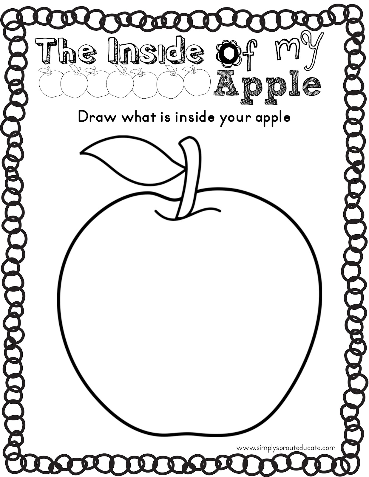 photograph about Parts of an Apple Printable referred to as Lil Sprouts Reserve Club: Apples, Apples Just about everywhere! - Quickly