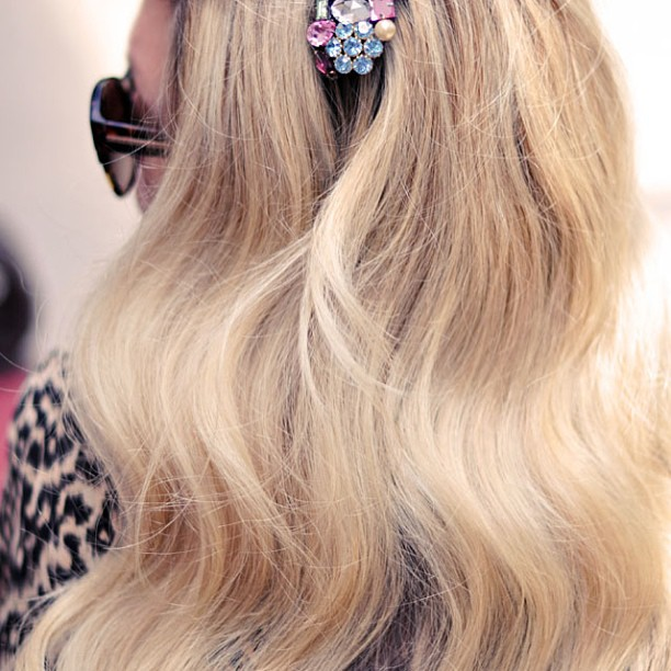 long blonde wavy hair
