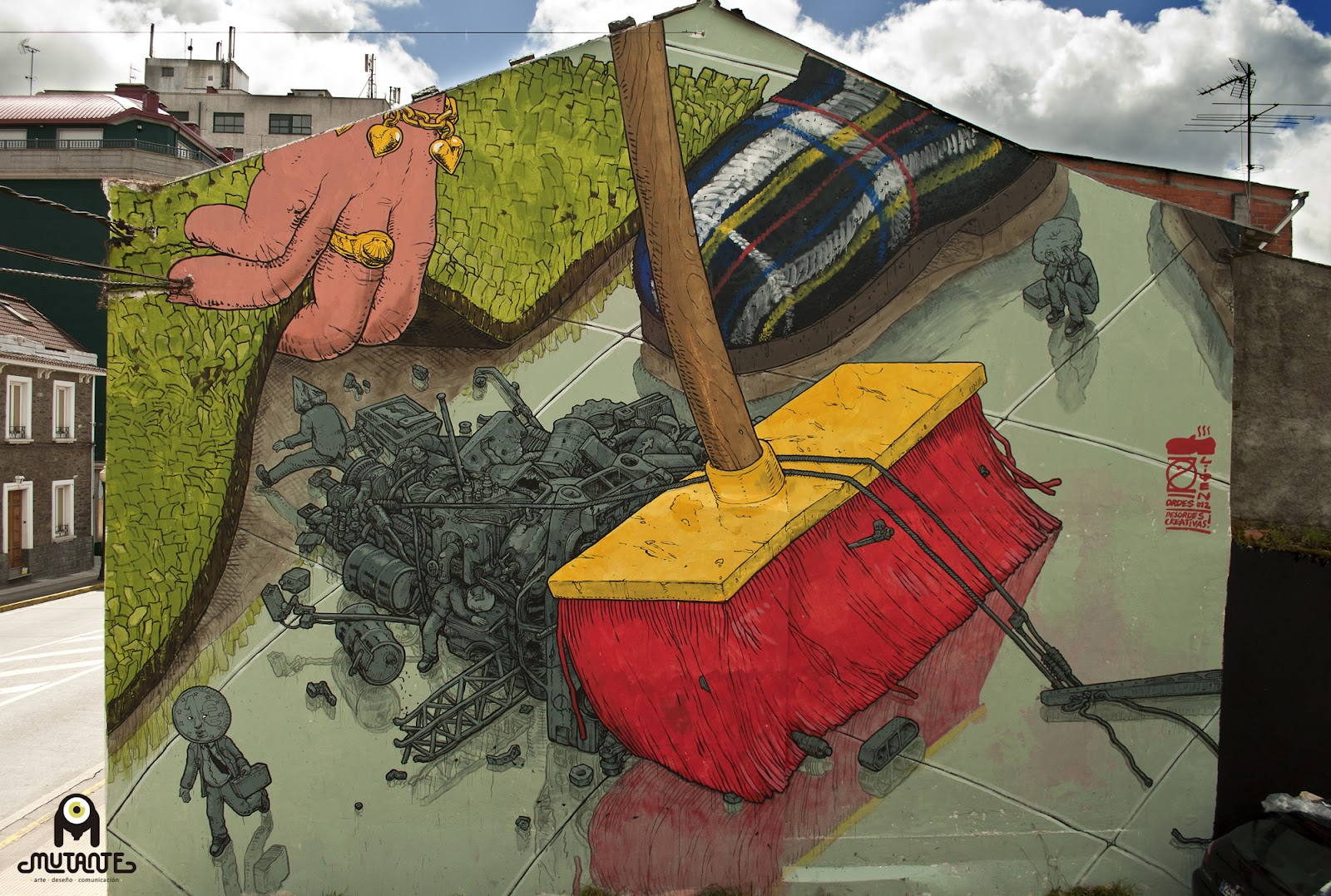 Liqen new mural in ordes spain streetartnews for Definition of a mural