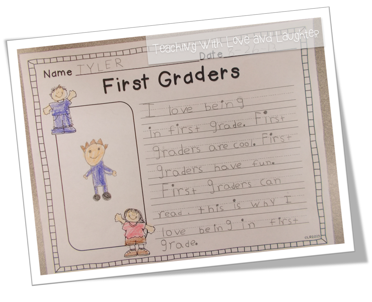 Your 1st grader's writing under Common Core Standards