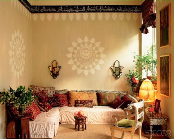 Moon to moon moroccan inspired seating for Simple indian drawing room interior design