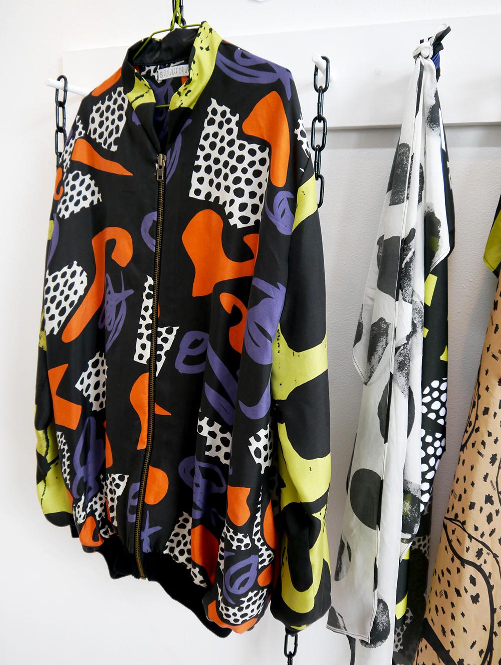 DJCAD, Duncan of Jordanstone College of Art and Design, degree show, Dundee, degree show 2015, #djcaddegreeshow, #djcaddegreeshow15, textile design, printed fabric, street style, street wear, Shauna McGregor