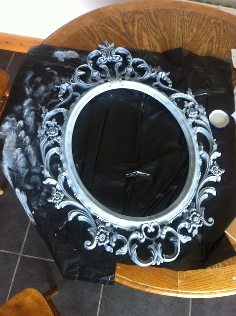 mirror decoupage