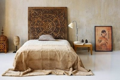Moon to moon carved wooden headboards - Cabecero de tablas ...