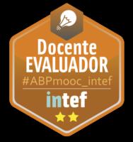 """Emblema """"Docente Evaluador"""" #ABPmooc_intef"""