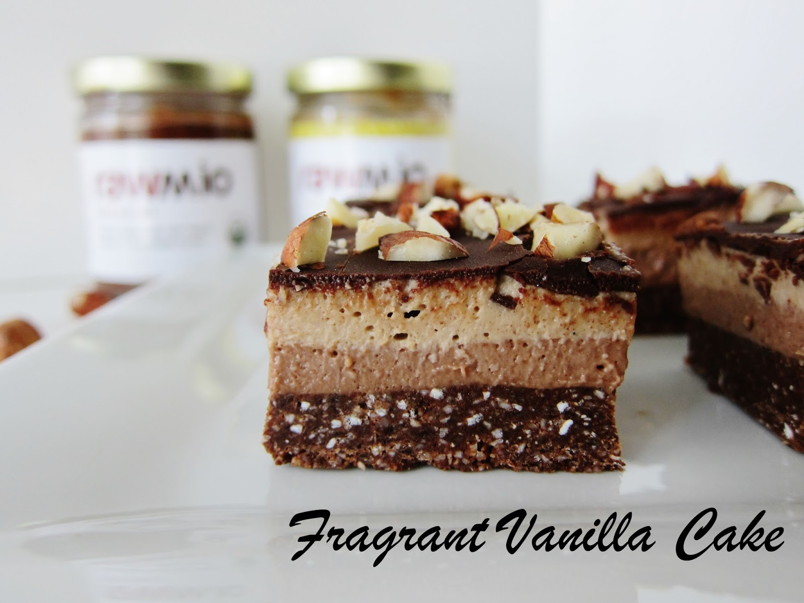 Raw Hazelnut Bliss Bars | Fragrant Vanilla Cake