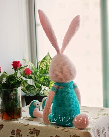 FairyFinFin: Cute Crochet Long Ears Long Legs Long Arms ...