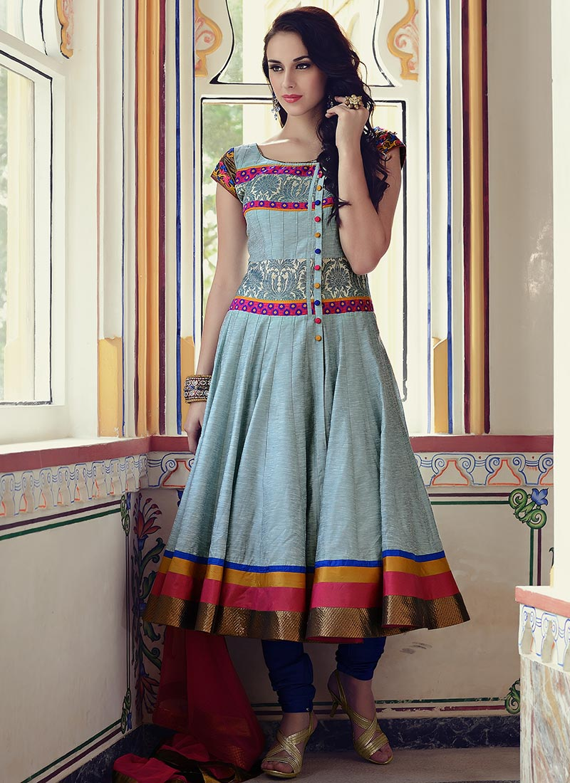 Stand Collar Blouse Designs Images : Bollywood style anarkali suits wel come to boon