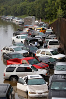 Motorists are stranded along I-45 in north Houston on Tuesday, May 26, after overnight storms flooded the area. (Image Credit: Cody Duty/Houston Chronicle via AP) Click to Enlarge.