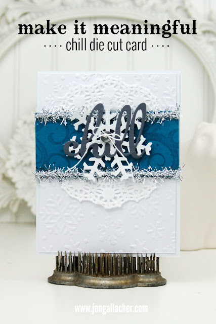 """Chill"" #wintercard and #christmascard by Jen Gallacher."