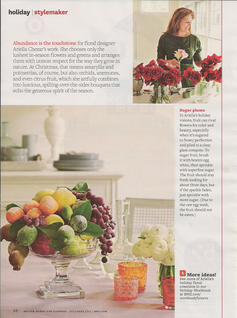 Red Door Home: Better Homes and Gardens Holiday Floral Shoot