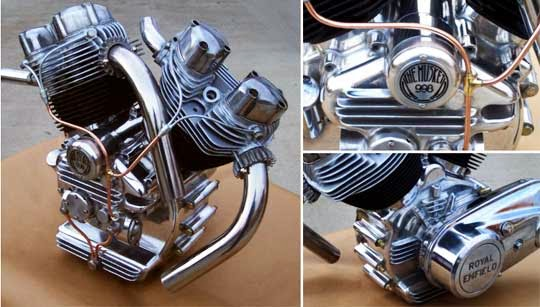 royal enfield twin cylinder engine
