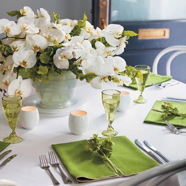 ... décoration mariage: decoration de salle de mariage blanc et vert