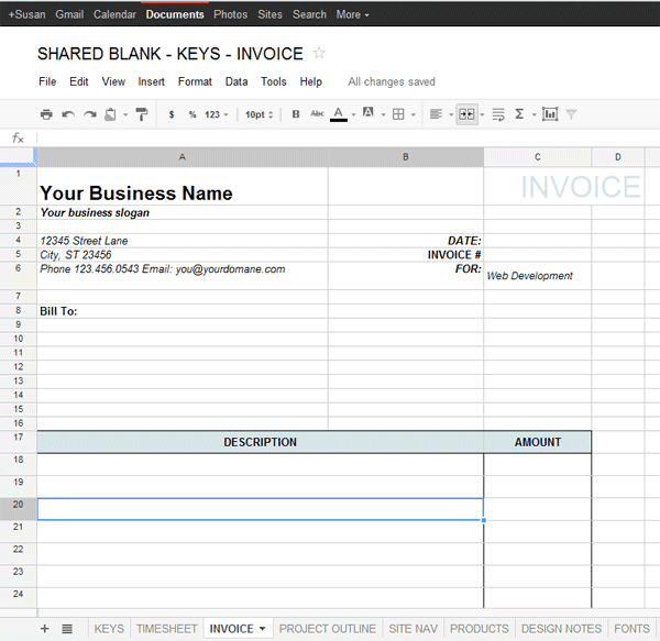 Google Docs Template for Freelance - Data & Project Management ...