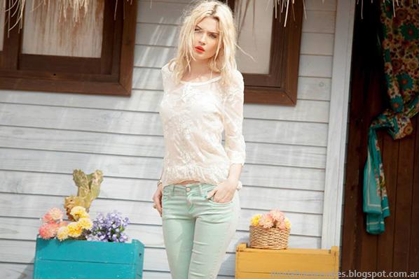 Blusas de verano 2014 Sweet indumentaria femenina moda 2014.