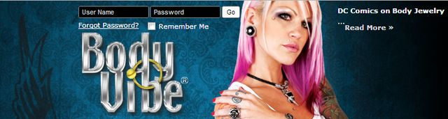 Gothic Body Jewelry and Accessories at Bodyvibe.com