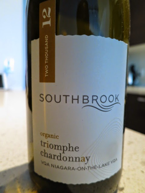 Wine Label for 2012 Southbrook Triomphe Chardonnay from VQA Niagara-on-the-Lake, Ontario, Canada