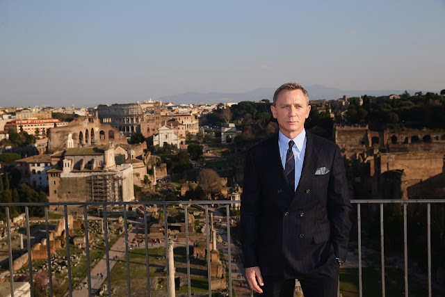Daniel Craig commences filming in Rome, Italy for the 24th James Bond adventure SPECTRE
