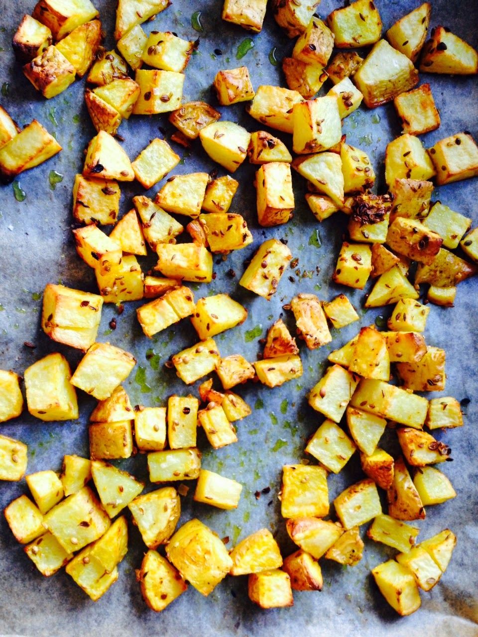 Crunchy Potatoes With Indian Spices Photo And Recipe Lucy Corry/The Kitchenmaid