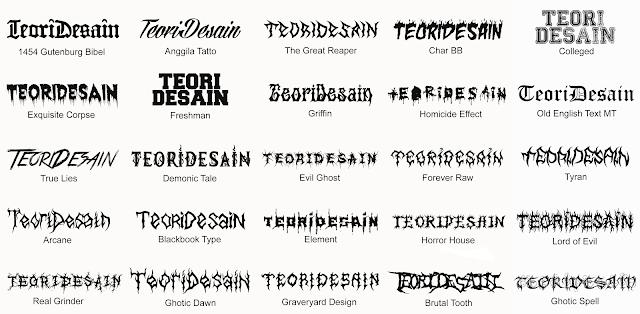 25 Font Untuk Desain Logo Band Metal Underground