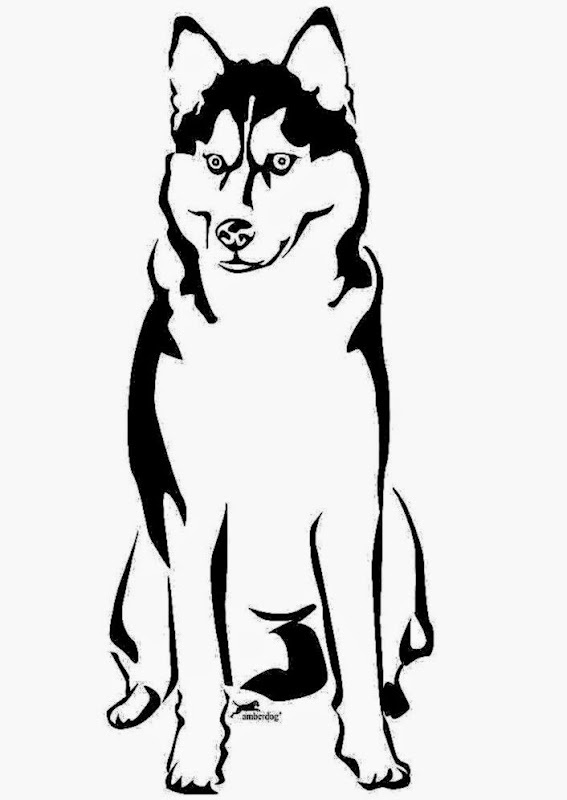 Dog Husky 3 Coloring Pages