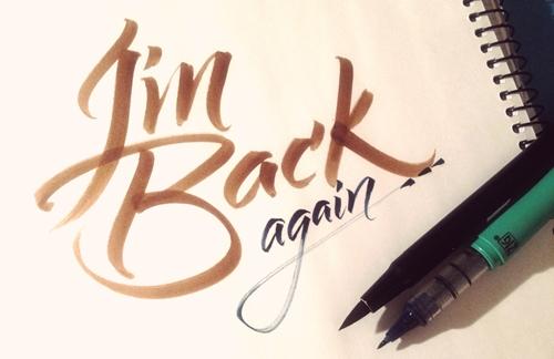 saya kembali - i am back again