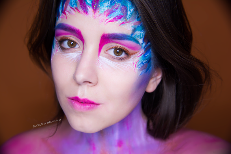 colorful make-up. tropical bird inspired make-up, tropical bird make-up, tropical bird, tropical bird editorial look, colorful editorial make-up, make-up trends 2015/2016, makijażowe trendy 2015/2016, sezon lato/jesień, blog makijażowy, blog o makijażu, sienia blog, kolorowy makijaż blog,   colorful mad world, colorful mad world blog