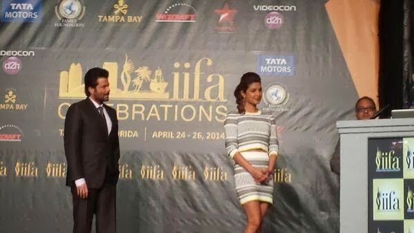 Priyanka Chopra & Anil Kapoor at the press conference of IIFA 2014 at Tampa Bay