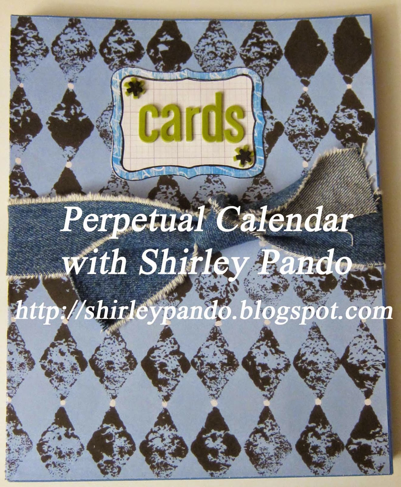 Perpetual Calendar Card Organizer