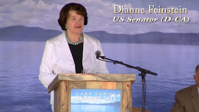 Click to see Dianne Feinstein at the Tahoe Summit