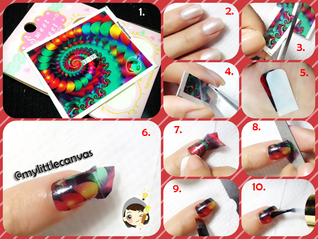 Full Nail Decal Tutorial by @mylittlecanvas