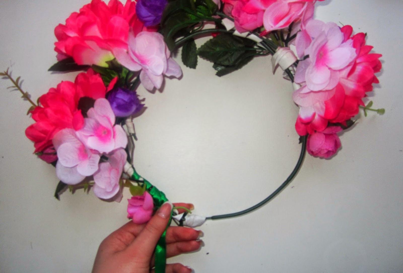 Фото венки из цветов на голову своими руками 1062