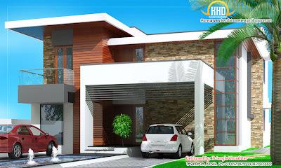 Modern House Elevation - 263 Sq M (2831 Sq. Ft) - January 2012
