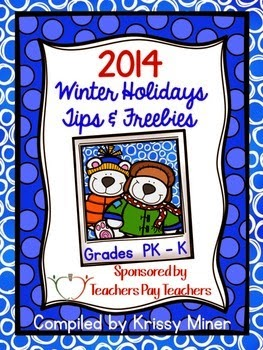 http://www.teacherspayteachers.com/Product/2014-Winter-Holiday-Tips-and-Freebies-PreKK-Edition-1592561