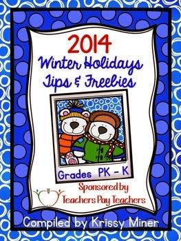 http://www.teacherspayteachers.com/Product/2014-Winter-Holiday-Tips-and-Freebies-PreKK-Edition-1592561