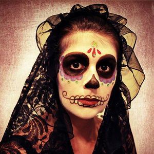 Make caveira mexicana para Halloween