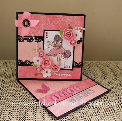 handmade pink card