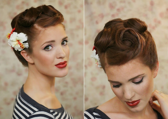 the freckled fox modern pin up week 6 retro roll updo. Black Bedroom Furniture Sets. Home Design Ideas