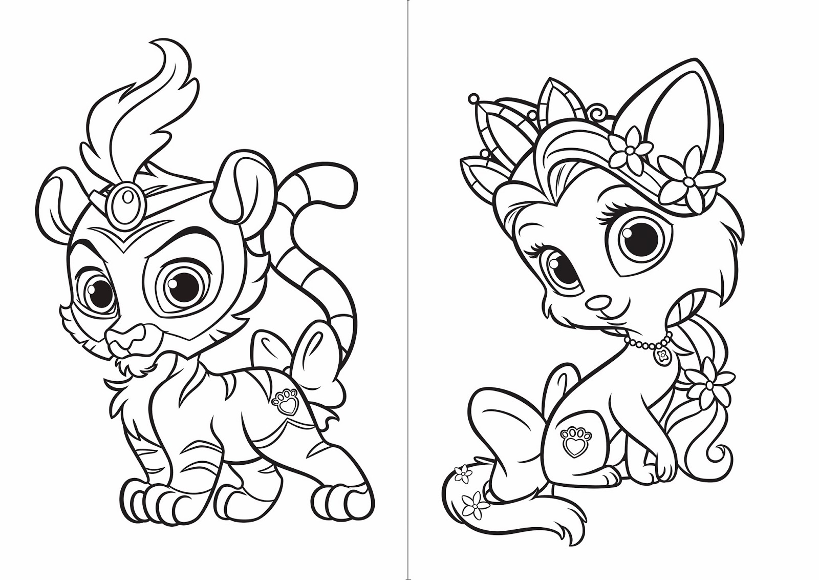 Palace Pet Free Printable Coloring