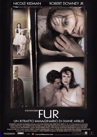 Futro - Portret wyobrażony Diane Arbus. Plakat z filmu.