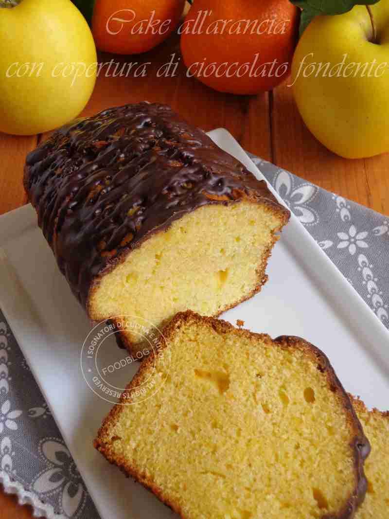 CAKE ALL'ARANCIA CON COLATA DI CIOCCOLATO FONDENTE1