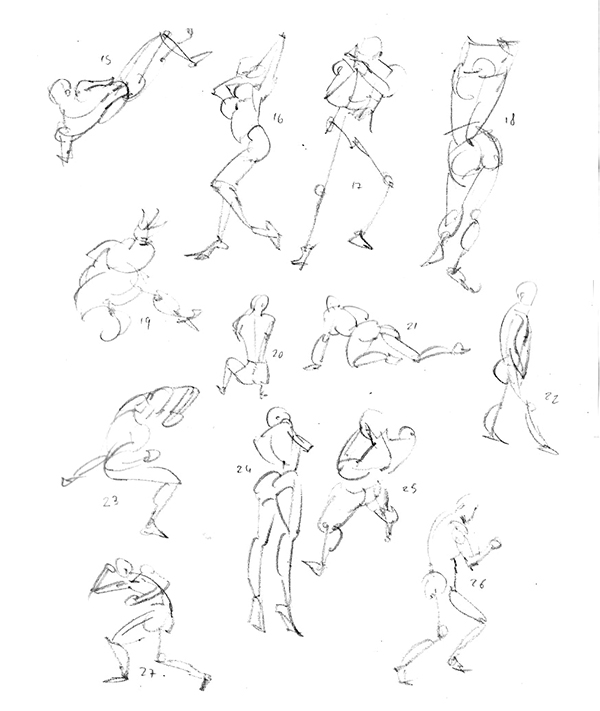 "Spartan Camp #234 - 50 gestures + Optional ""Quick portraits study"""