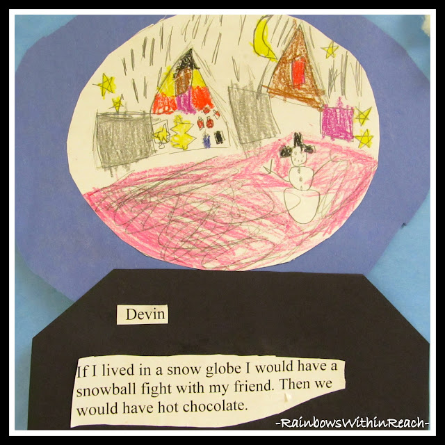 photo of: Snow Globe Writing Project via RainbowsWithinReach