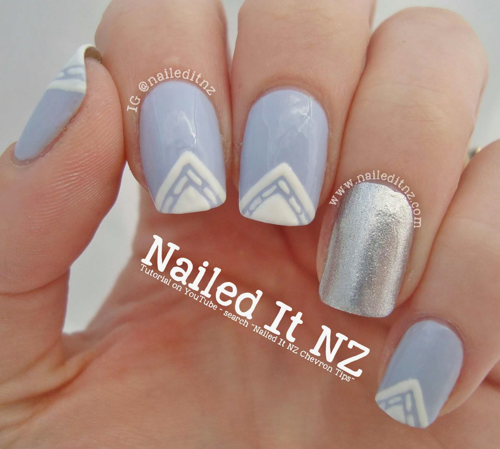 Tutorial classy chevron tips nail art prinsesfo Gallery