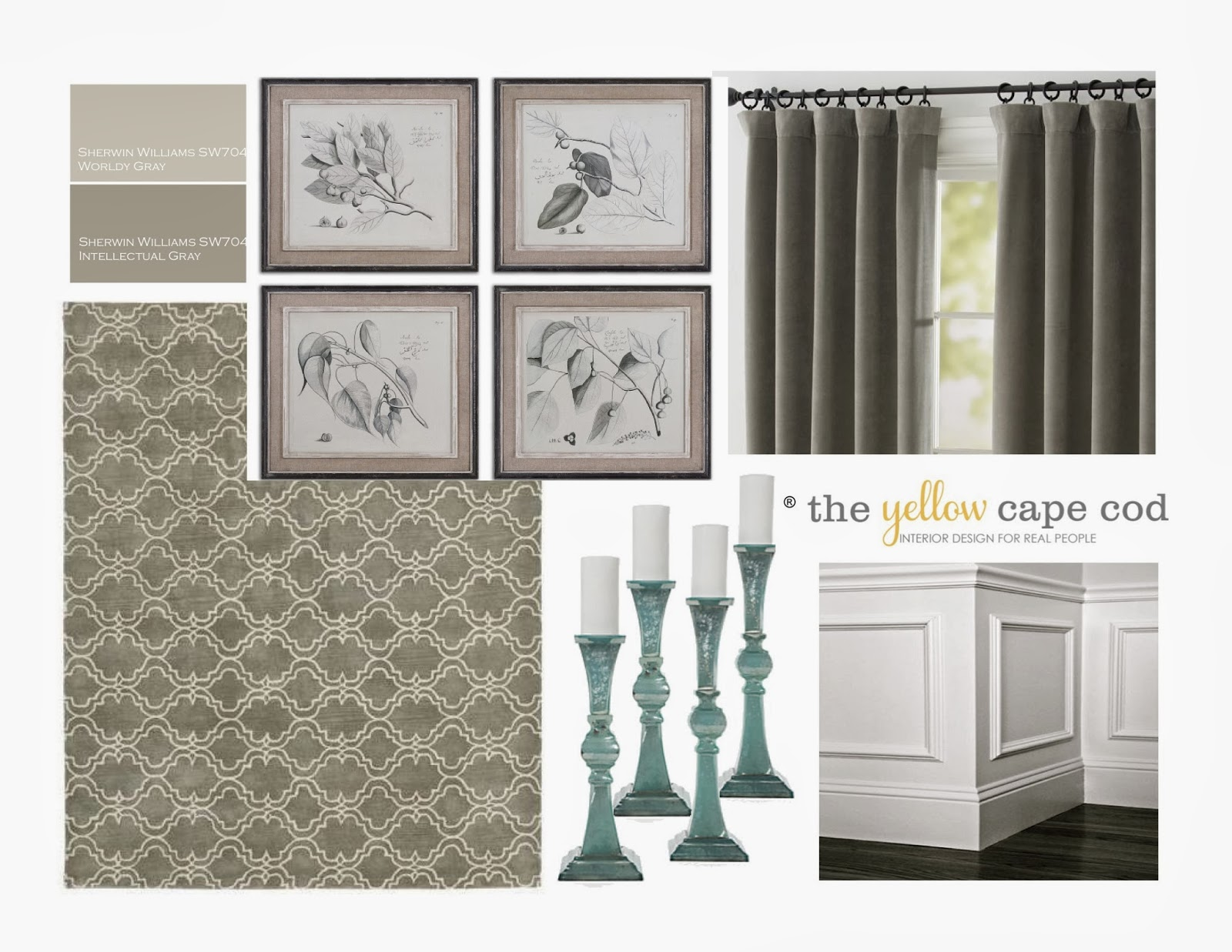 The Yellow Cape Cod: Kitchen and Dining Room~Linen, Gray and Turquoise