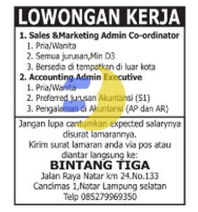 Karir Lampung di Bintang Tiga, Minggu 11 Januari 2015